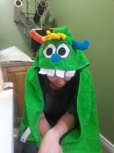 Monster towel for Scotty